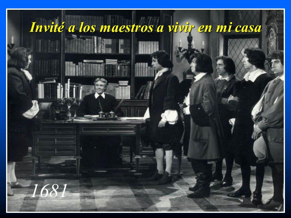 Invité a los maestros a vivir en mi casa 1681