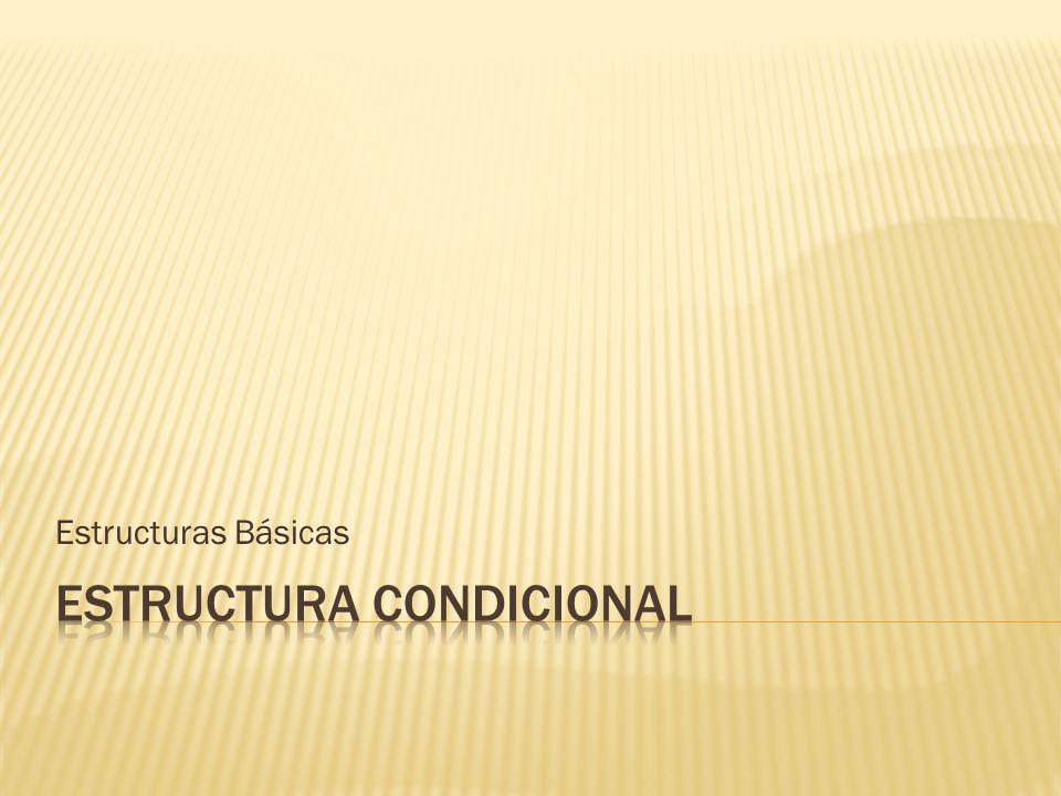 Estructuras Básicas