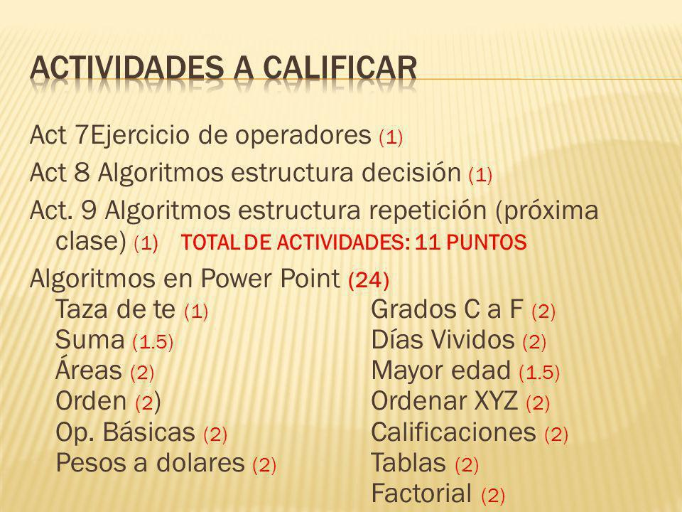 Cumplir con el reglamento (2.5) Cuaderno y usb completo (2.5) Examen 60 puntos