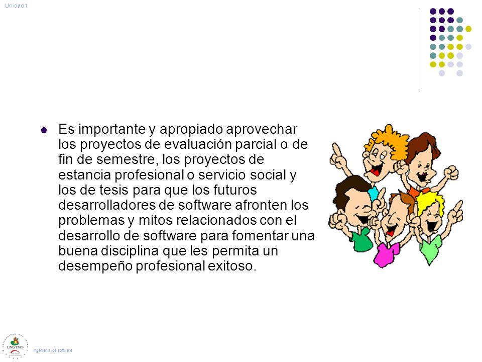 Es importante y apropiado aprovechar los proyectos de evaluación parcial o de fin de semestre, los proyectos de estancia profesional o servicio social