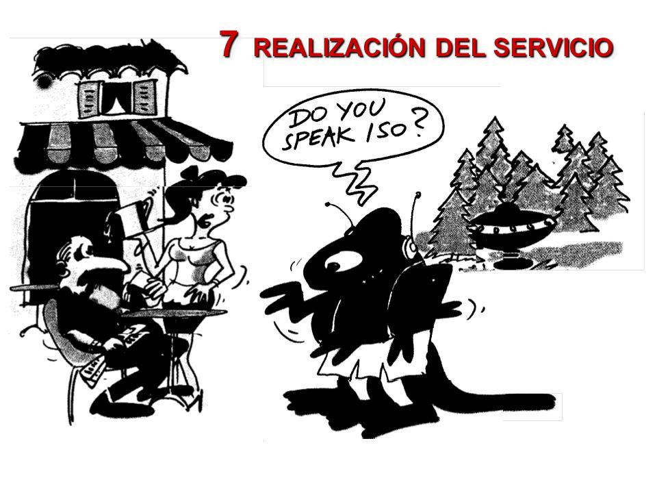 7 REALIZACIÓN DEL SERVICIO
