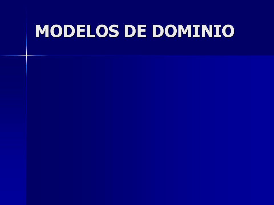 MODELOS DE DOMINIO