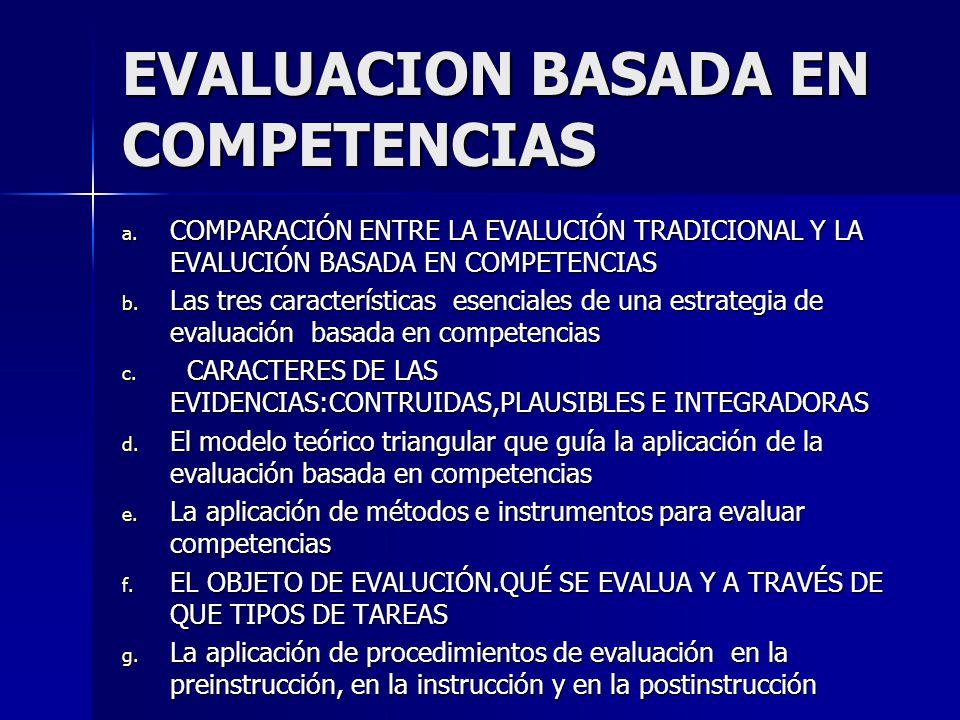 EVALUACION BASADA EN COMPETENCIAS a.
