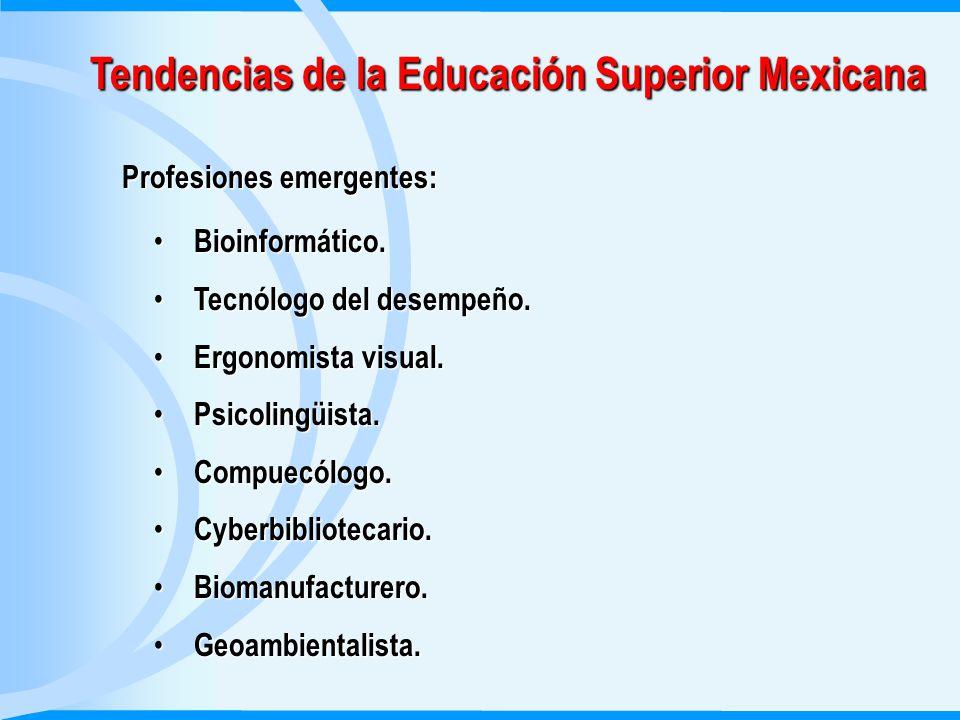 Tendencias de la Educación Superior Mexicana Profesiones emergentes: Bioinformático.