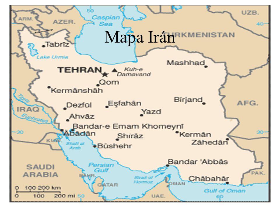 Mapa Irán