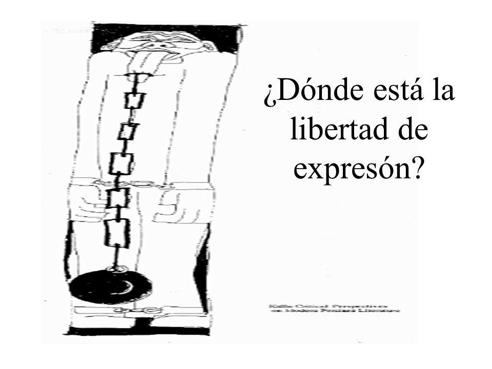 ¿Dónde está la libertad de expresón?