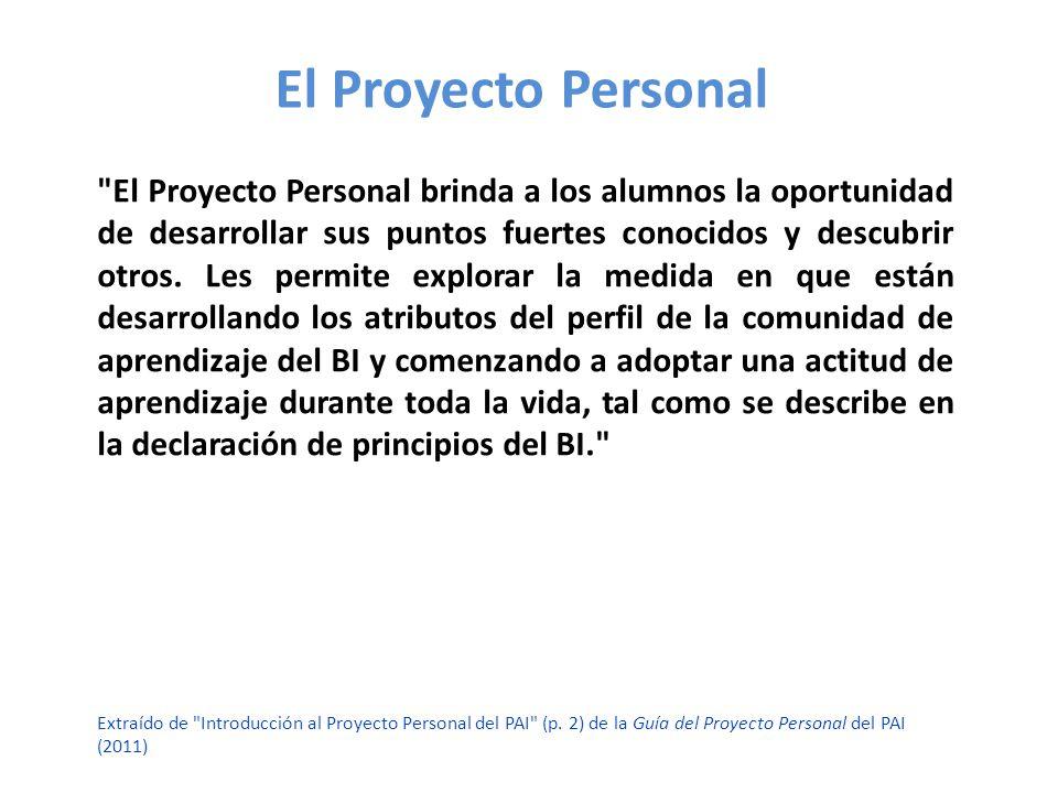 El Proyecto Personal