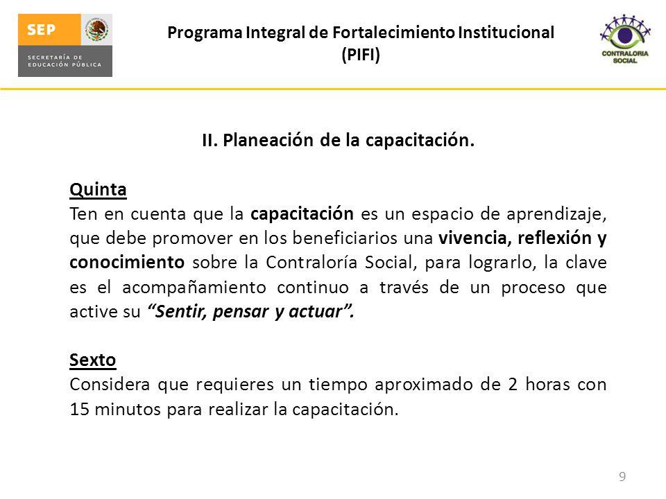 III.Metodología de capacitación.