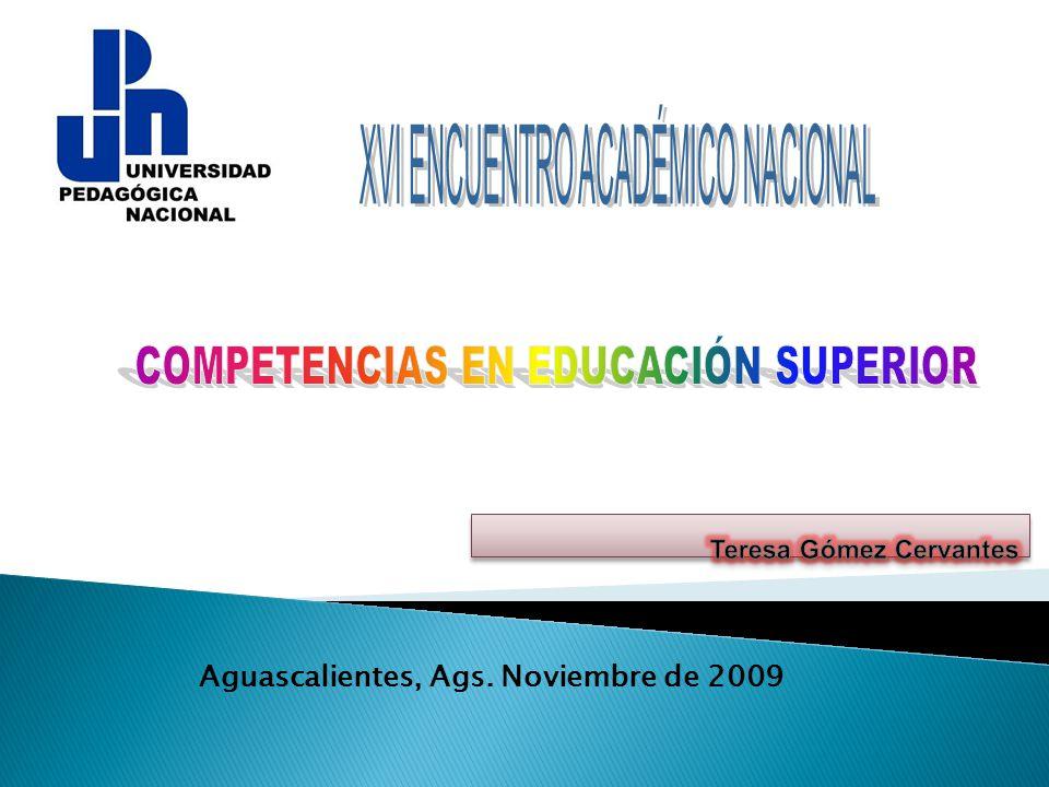 Aguascalientes, Ags. Noviembre de 2009