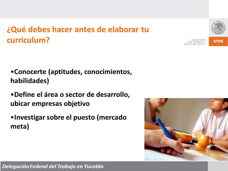Delegación Federal del Trabajo en Yucatán ¿Qué es un Curriculum.