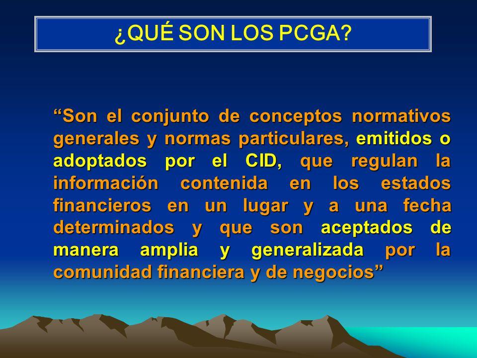 Los PCGA deben pasar por un proceso formal de auscultación abierto a la observación y participación activa de los interesados e involucrados en la información financiera.