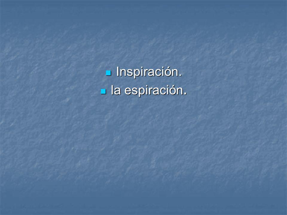 Inspiración. Inspiración. la espiración. la espiración.