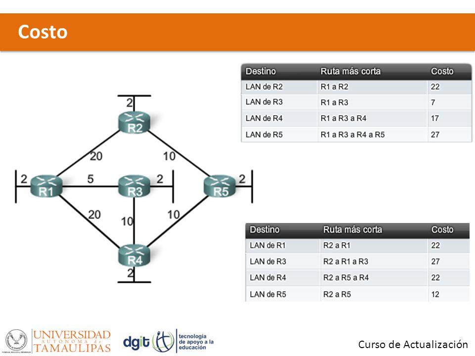 Link-State Routing Process Curso de Actualización 1.- Cada router aprende acerca de sus propios enlaces, es decir, las redes directamente conectadas.