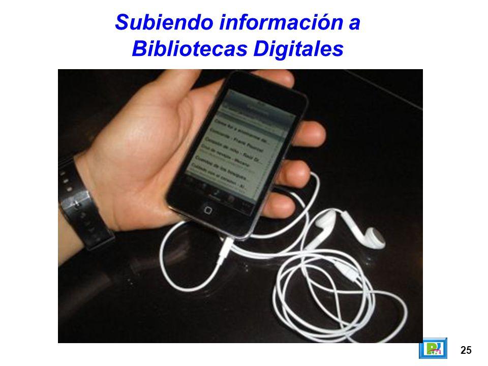 25 Subiendo información a Bibliotecas Digitales