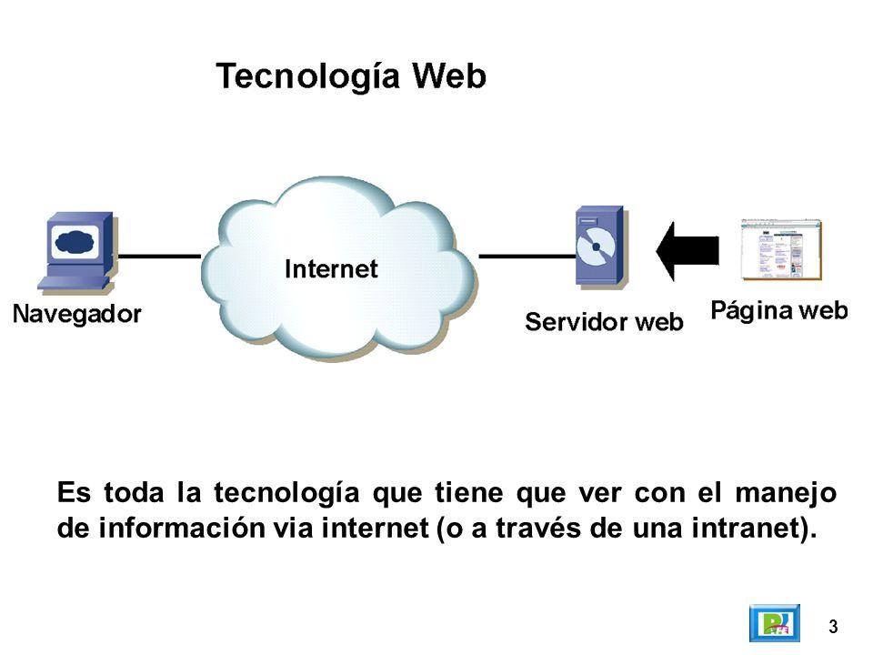 3 Es toda la tecnología que tiene que ver con el manejo de información via internet (o a través de una intranet).