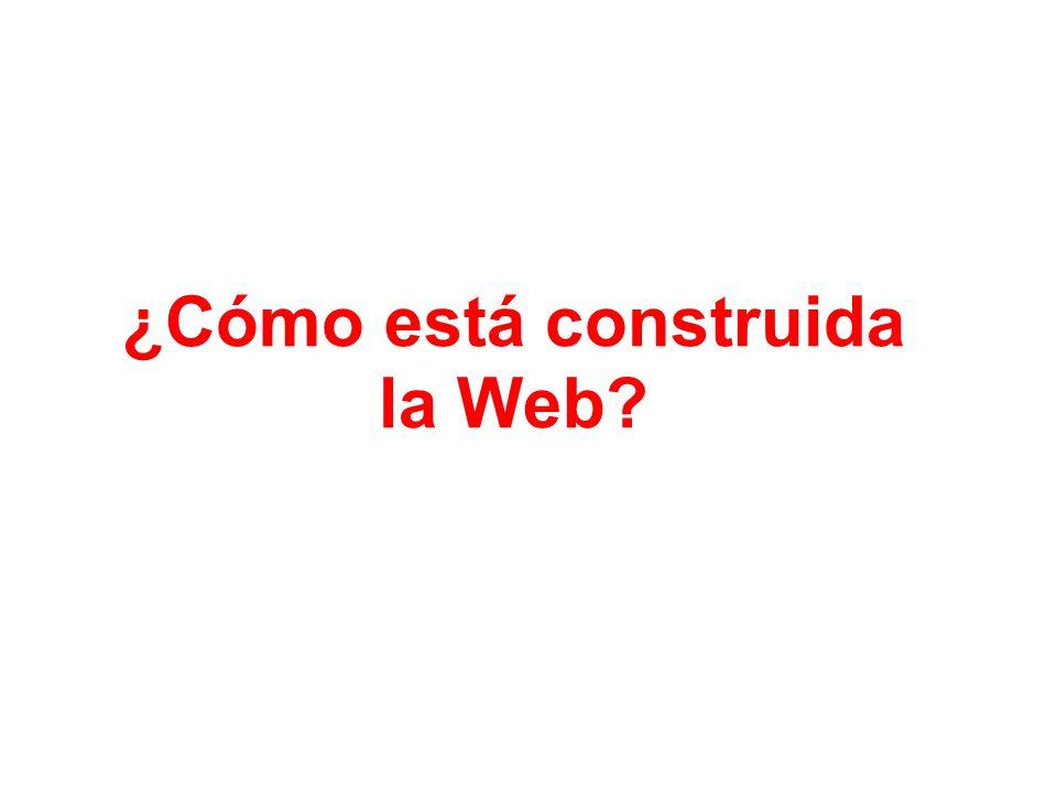 ¿Cómo está construida la Web?