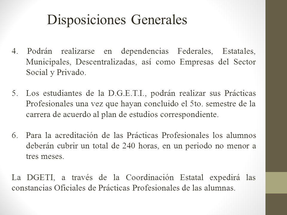 Las Prácticas Profesionales las podrán realizar las estudiantes que tengan autorización por la Dirección del Plantel para inscribirse al 6to.