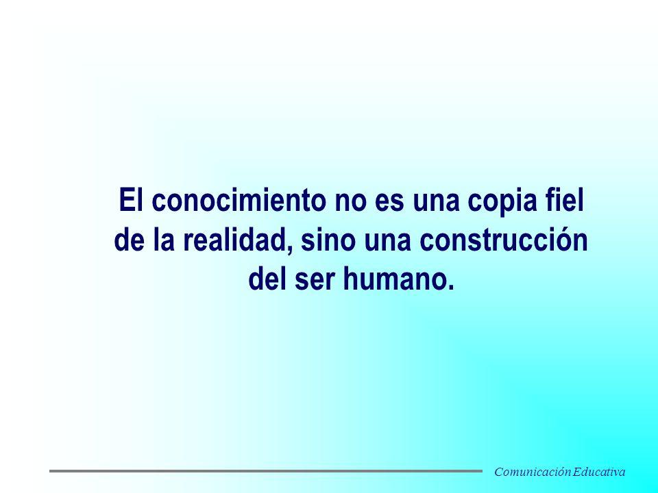 El conocimiento no es una copia fiel de la realidad, sino una construcción del ser humano. Comunicación Educativa