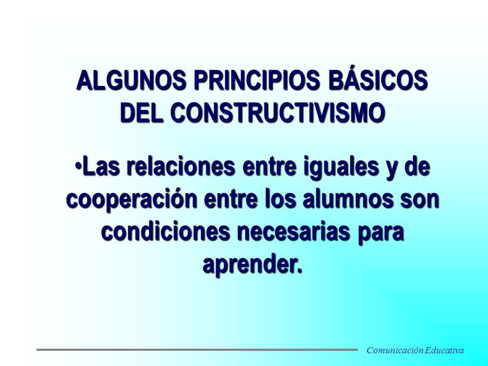 Las relaciones entre iguales y de cooperación entre los alumnos son condiciones necesarias para aprender. Las relaciones entre iguales y de cooperació