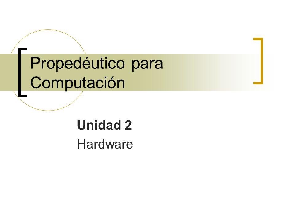 Propedéutico para Computación Unidad 2 Hardware