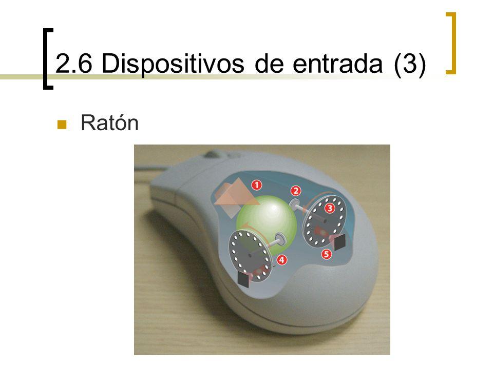 2.6 Dispositivos de entrada (3) Ratón