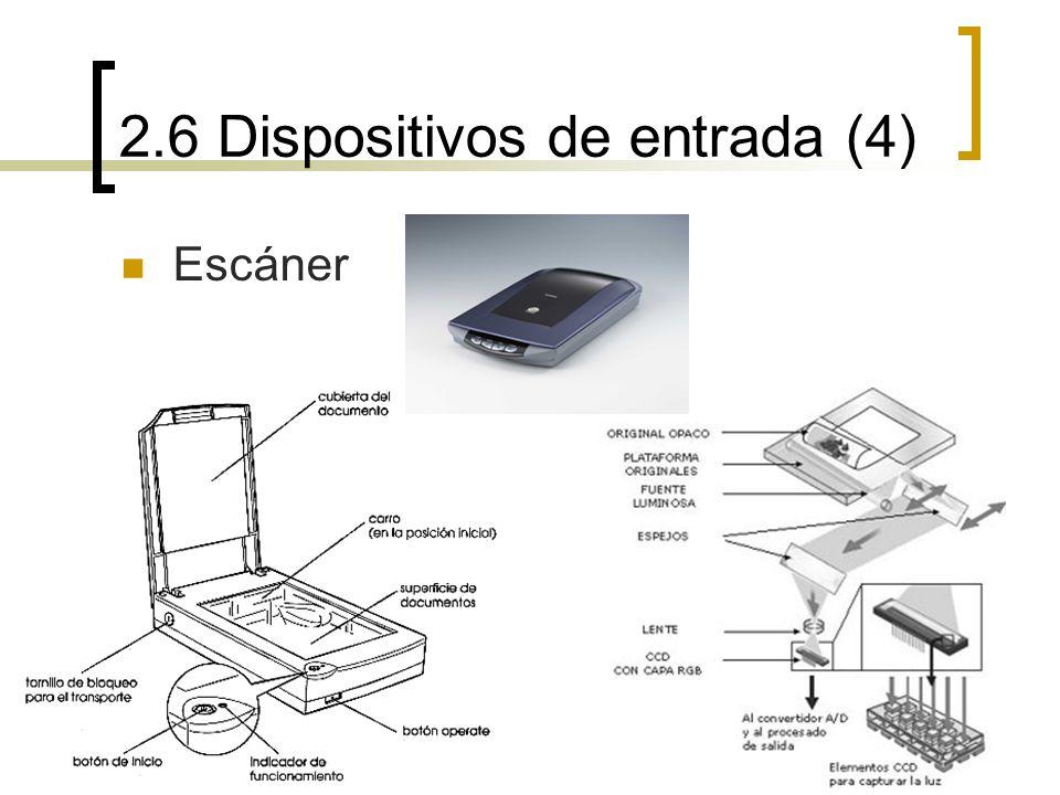 2.6 Dispositivos de entrada (4) Escáner