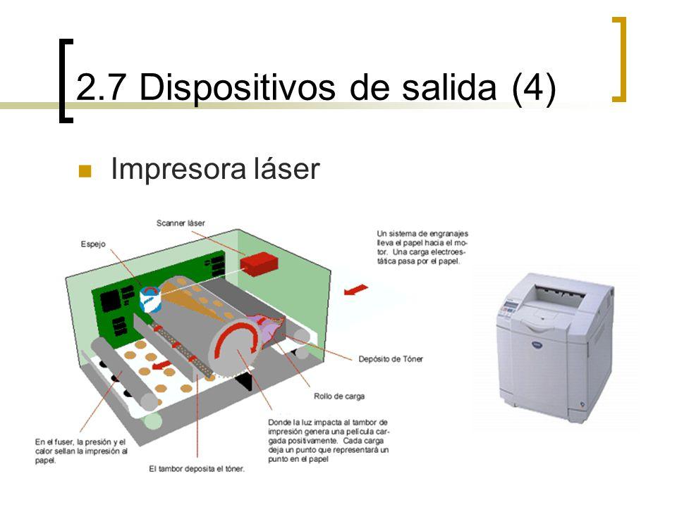 2.7 Dispositivos de salida (4) Impresora láser
