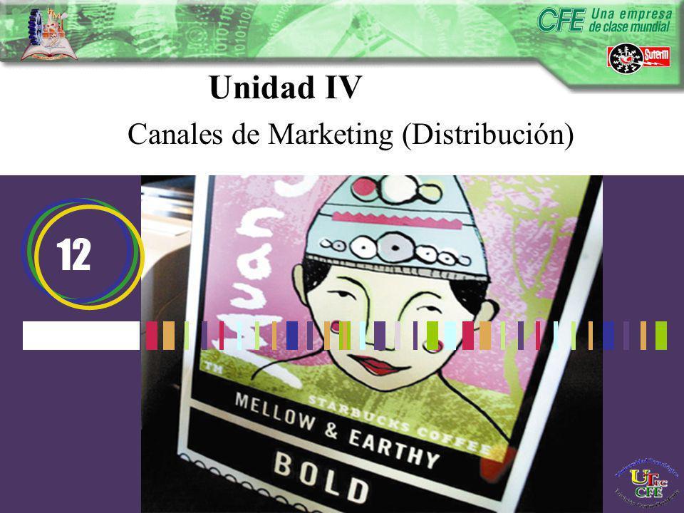 Unidad IV Canales de Marketing (Distribución) 12