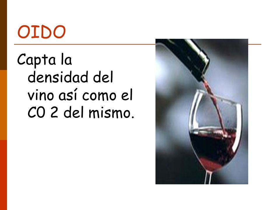 OIDO Capta la densidad del vino así como el C0 2 del mismo.
