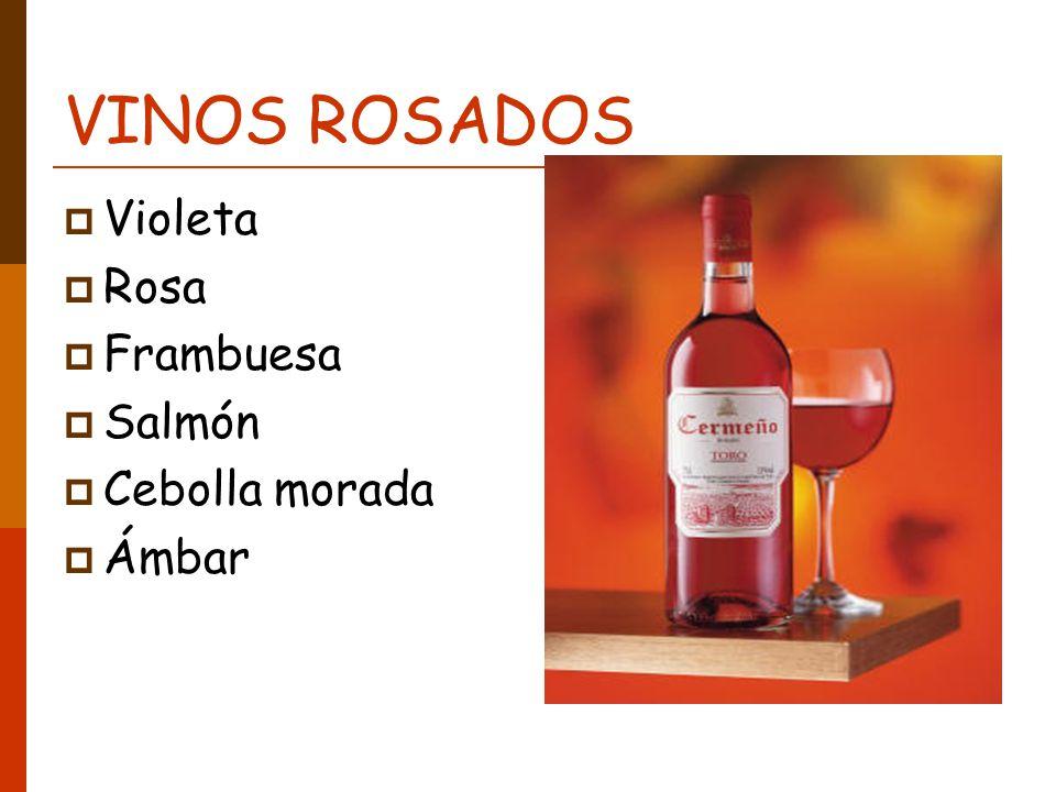 VINOS ROSADOS Violeta Rosa Frambuesa Salmón Cebolla morada Ámbar