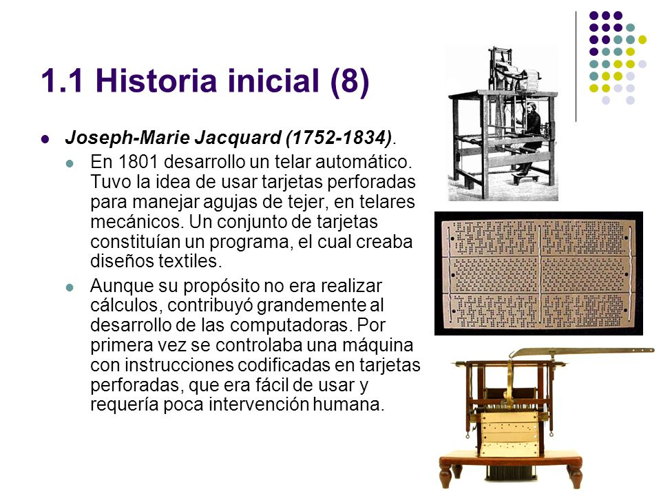 1.1 Historia inicial (9) Charles Babbage (1793-1871).