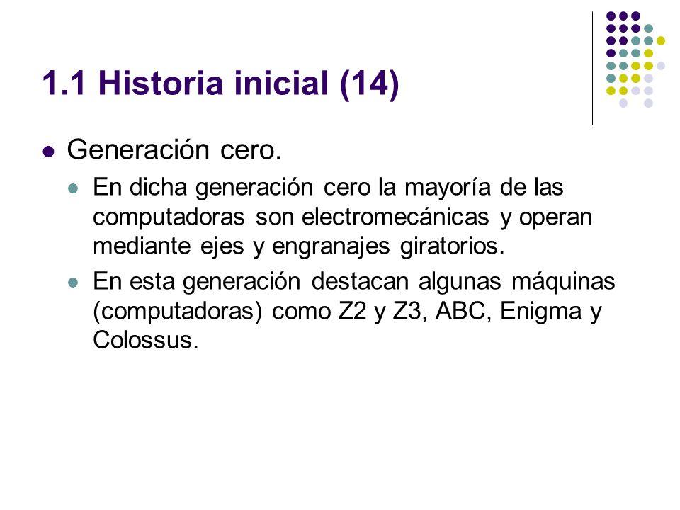 1.1 Historia inicial (14) Generación cero.