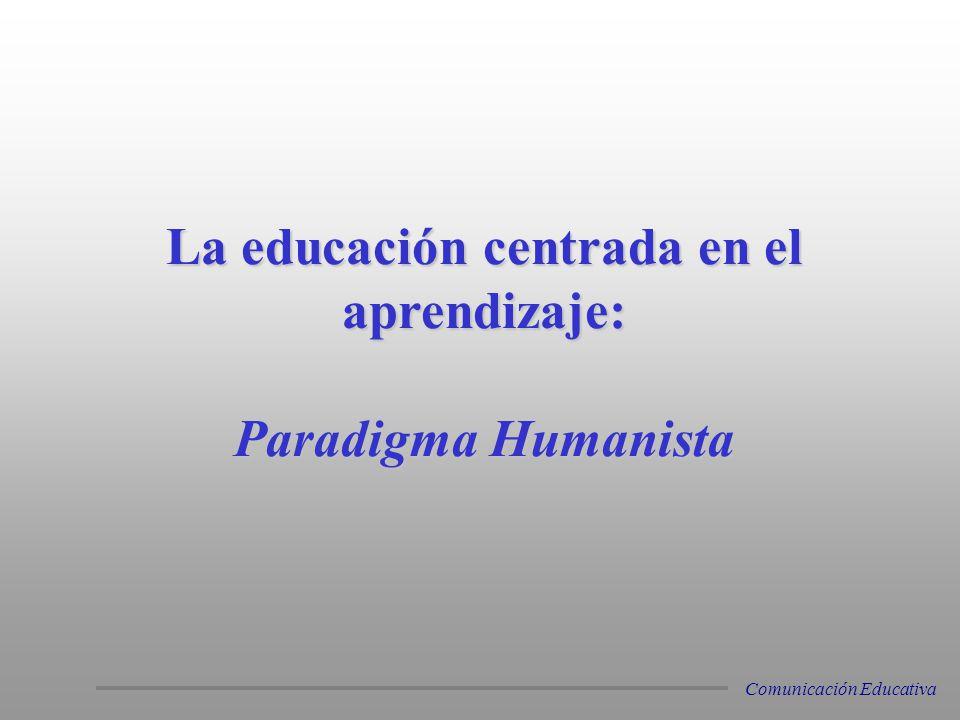 La educación centrada en el aprendizaje: Paradigma Humanista Paradigma Humanista Comunicación Educativa