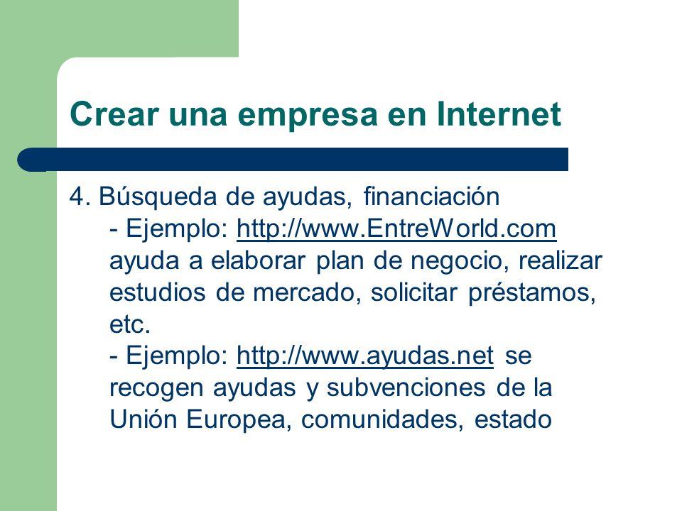 Crear una empresa en Internet 4.