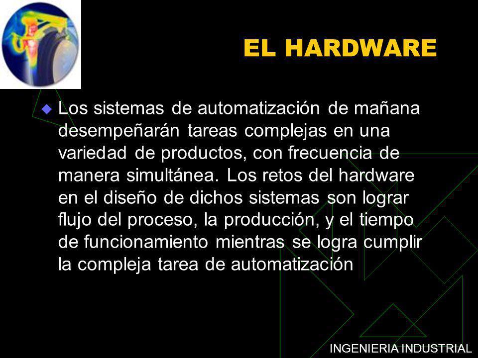 INGENIERIA INDUSTRIAL EL HARDWARE Los sistemas de automatización de mañana desempeñarán tareas complejas en una variedad de productos, con frecuencia