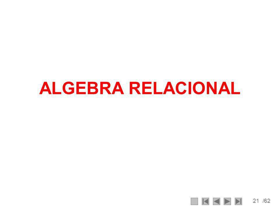 21/62 ALGEBRA RELACIONAL
