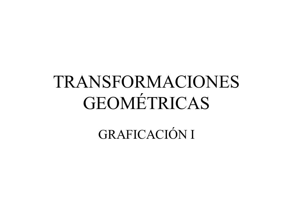 Composición de transformaciones Para aplicar varias transformaciones a un conjunto de puntos basta con combinar las matrices de transformación en una sola, mediante multiplicación matricial.