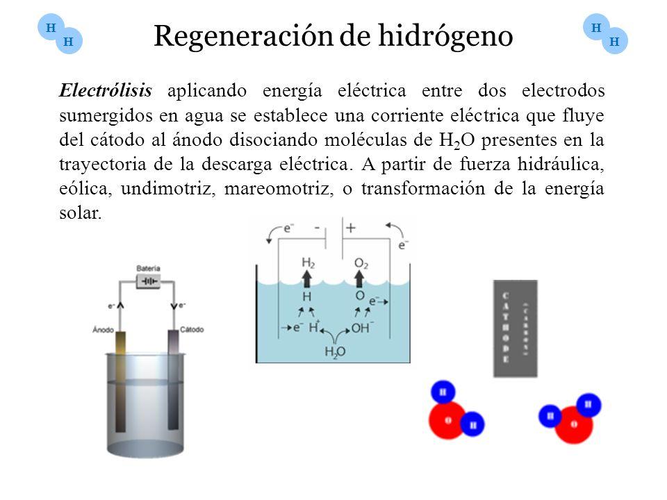 Electrólisis aplicando energía eléctrica entre dos electrodos sumergidos en agua se establece una corriente eléctrica que fluye del cátodo al ánodo di