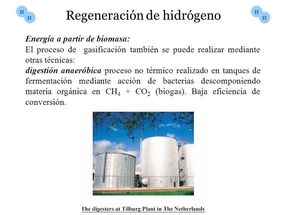 Energía a partir de biomasa: El proceso de gasificación también se puede realizar mediante otras técnicas: digestión anaeróbica proceso no térmico rea