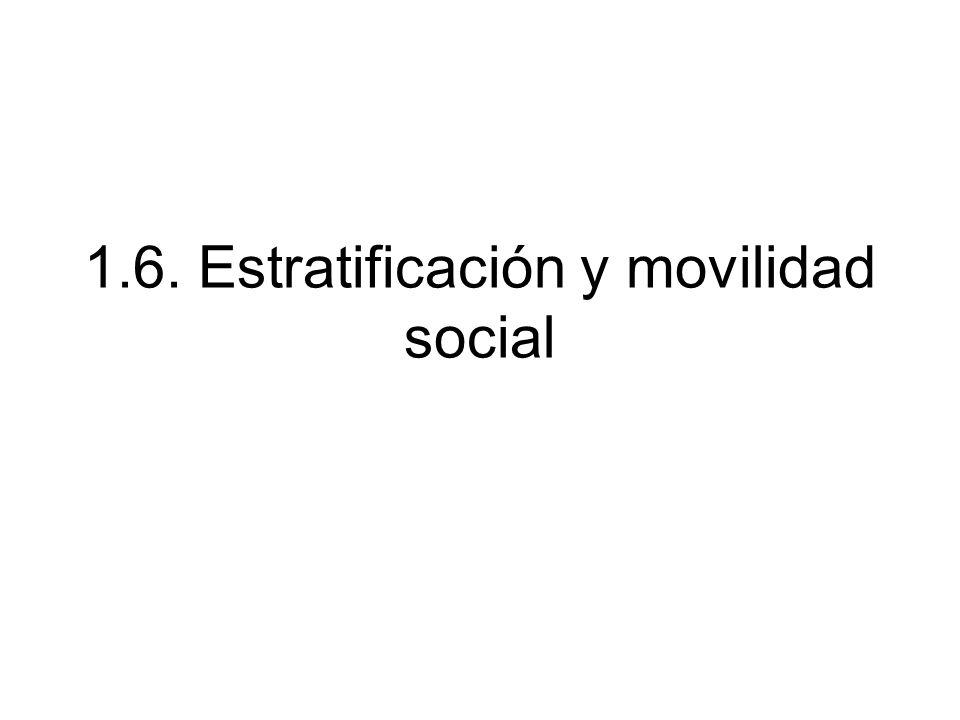 1.6. Estratificación y movilidad social