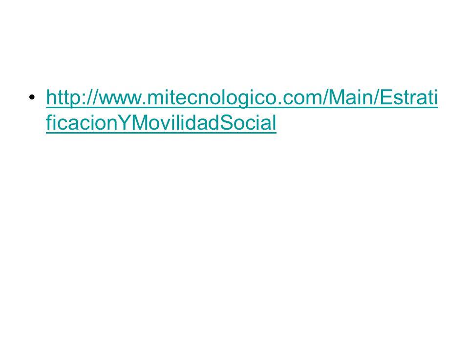 http://www.mitecnologico.com/Main/Estrati ficacionYMovilidadSocialhttp://www.mitecnologico.com/Main/Estrati ficacionYMovilidadSocial