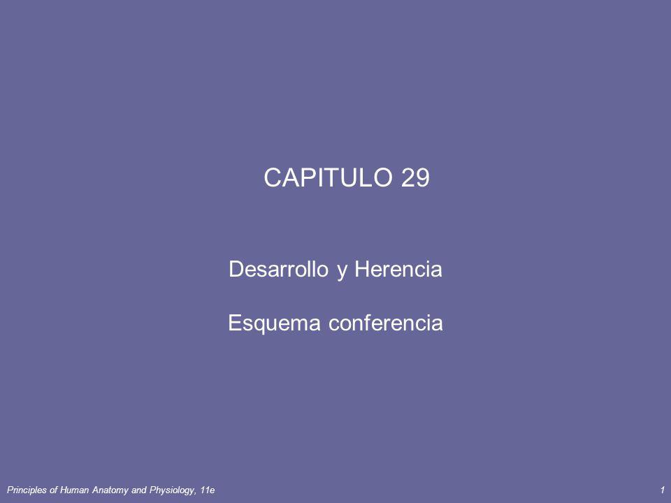 Principles of Human Anatomy and Physiology, 11e1 CAPITULO 29 Desarrollo y Herencia Esquema conferencia