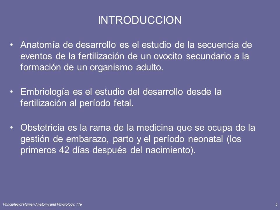 Principles of Human Anatomy and Physiology, 11e6 PERIODO EMBRIOLOGICO