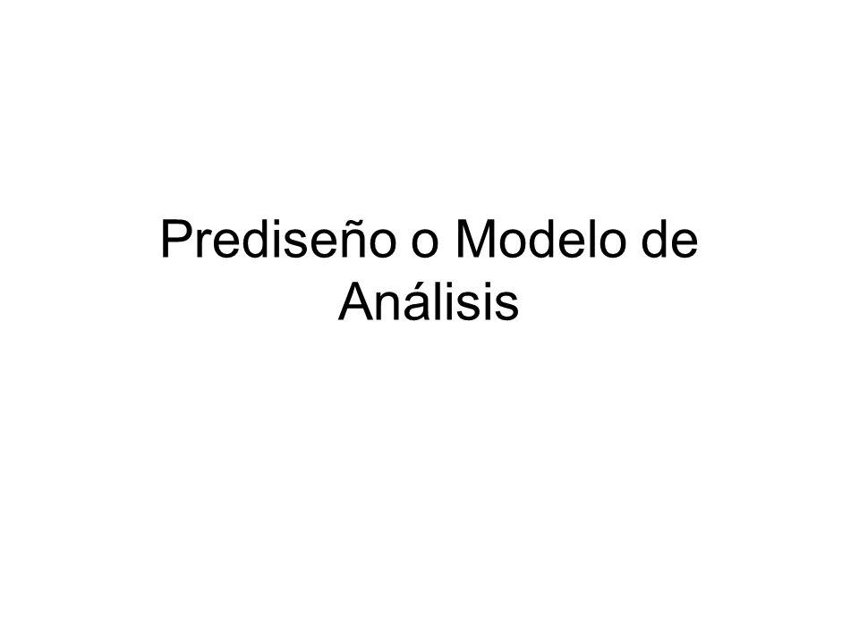 Prediseño o Modelo de Análisis