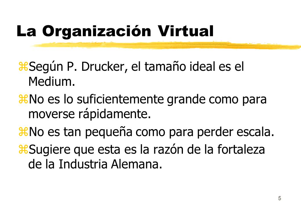 6 La Organización Virtual zSer grande es una ventaja para Comprar.