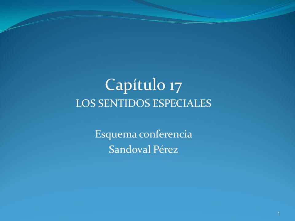 Capítulo 17 LOS SENTIDOS ESPECIALES Esquema conferencia Sandoval Pérez 1