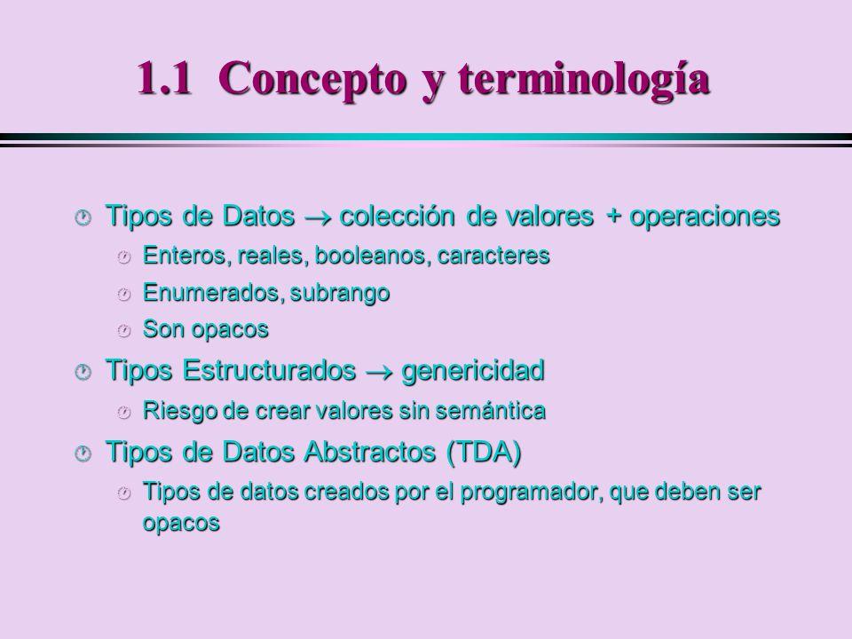 1.4.1 Clases y Objetos Clase: Tipo de datos definido por el usuario.