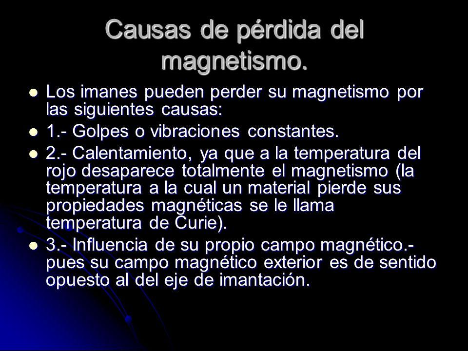 Causas de pérdida del magnetismo.