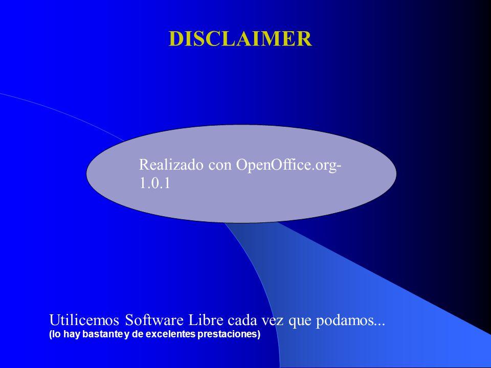 Realizado con OpenOffice.org- 1.0.1 Utilicemos Software Libre cada vez que podamos...