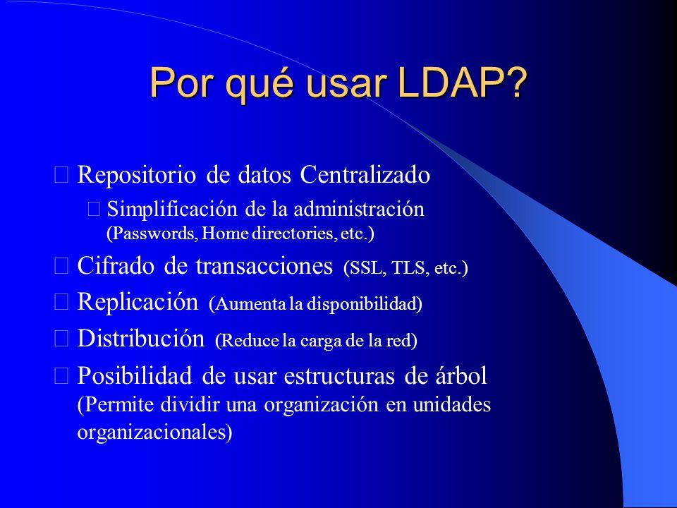 Por qué usar LDAP.